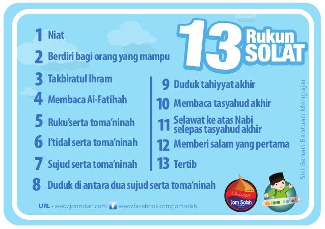 Rukun Solat Flash Card | JomSolat