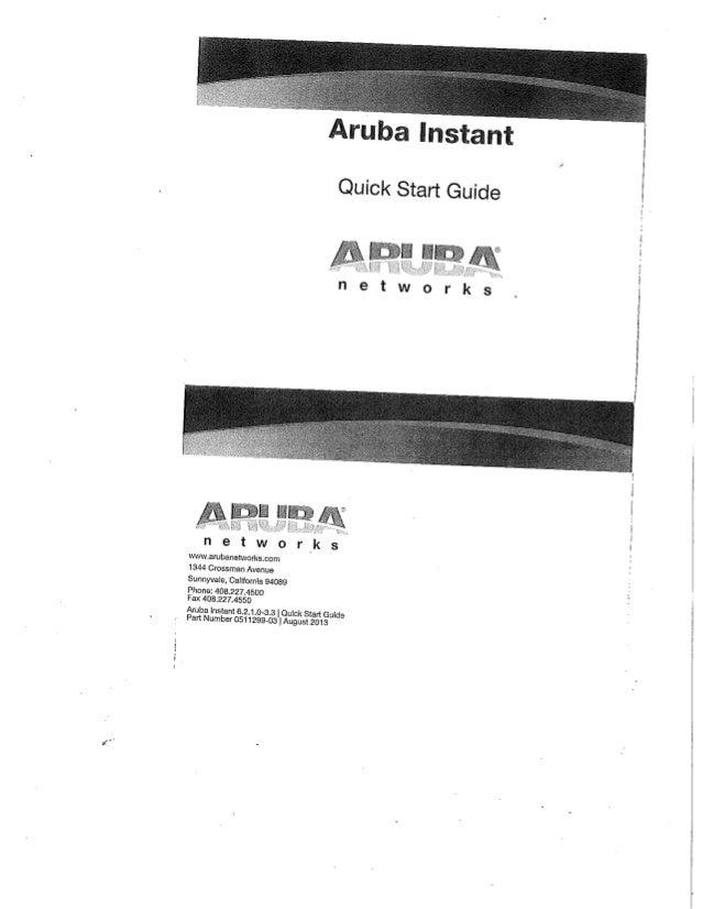 Aruba instant AP quick-startup