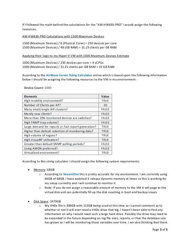 Aruba AirWave Connectivity Issues on Hyper-V