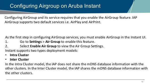 EMEA Airheads- Aruba IAP Webinar – How AirGroup service works in Arub…