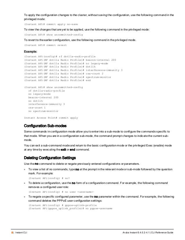 Aruba Instant 6 4 0 2-4 1 Command Line Interface Reference Guide