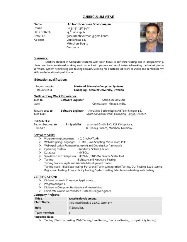 Great CURRICULUM VITAEName Arulmozhivarman GovindarajanPhone ... Within Petroleum Engineering Resume