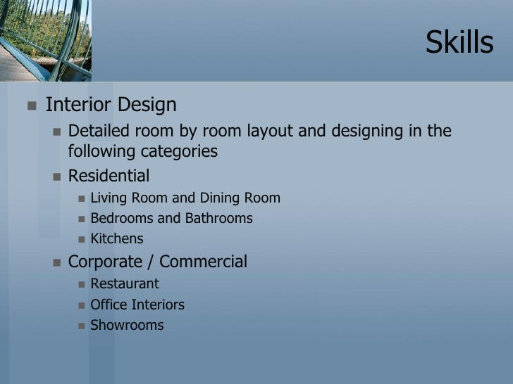Interior Designer Profile Resume