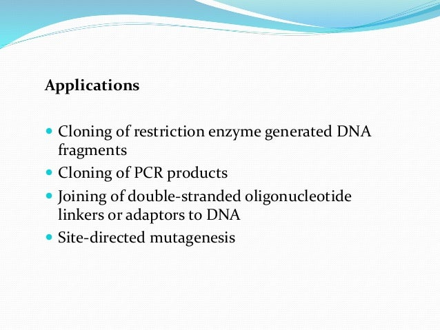 CONCLUSION:  These are the modifying enzymes represent the cutting and joining functions in DNA manipulation and genetic ...