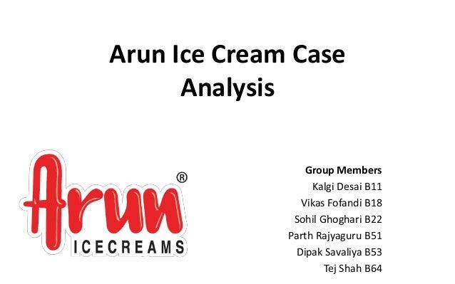 arun ice cream case study iima