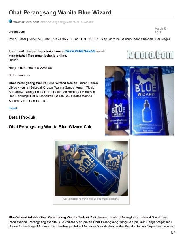 blue wizard cair obat perangsang wanita paling ampuh