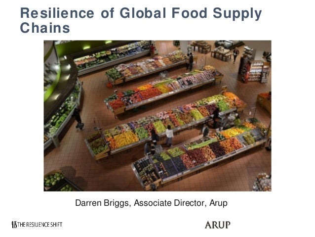 Resilience of Global Food Supply Chains Darren Briggs, Associate Director, Arup