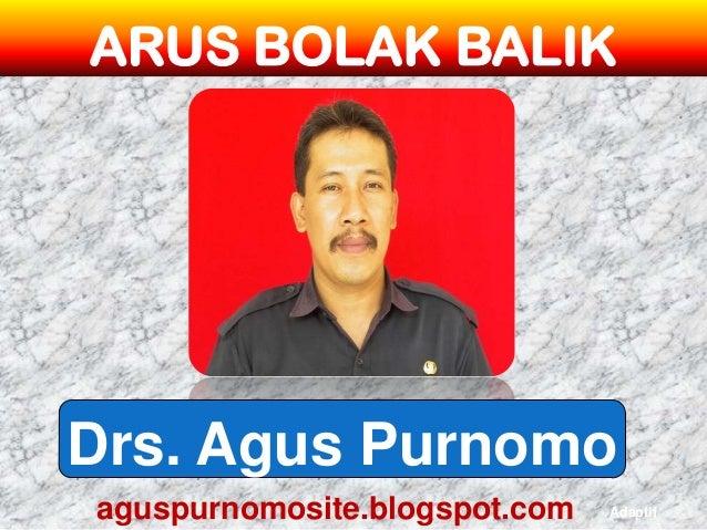 ARUS BOLAK BALIKDrs. Agus Purnomoaguspurnomosite.blogspot.com   Adaptif