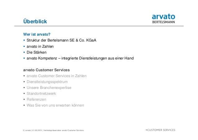 arvato Customer Services Vertriebspräsentation Slide 2
