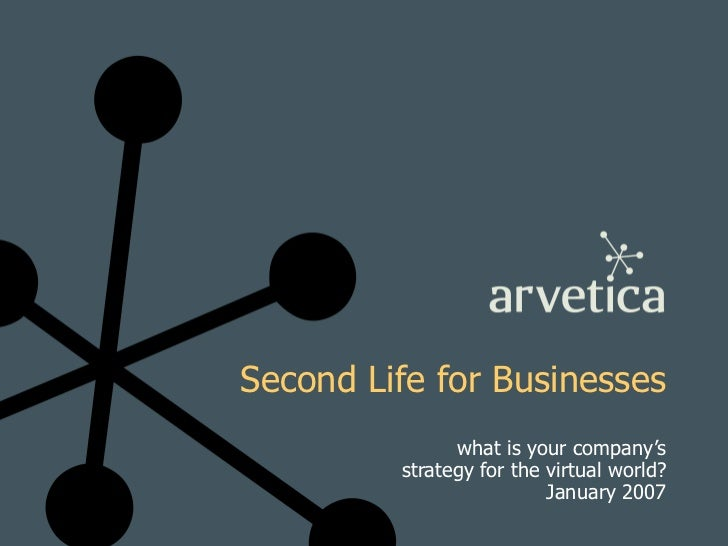 Second Life for Businesses what is your company's strategy for the virtual world? January 2007