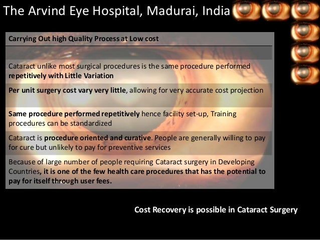 arvind eye care I had been looking forward to the opportunity to visit the aravind eye care system in madurai, tamil nadu, india, ever since i matched at the wilmer eye institute for residency thanks to a historical relationship, we are fortunate to be able to visit during the elective rotation of our third year.