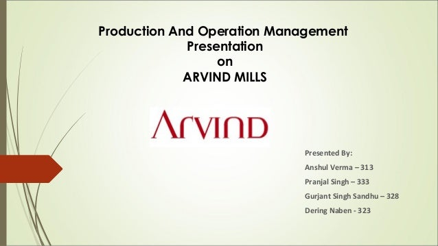 production and operations management a present