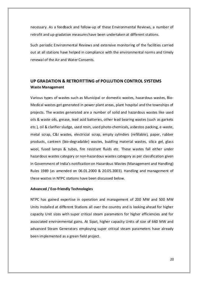 Ntpc Badarpur Project Report