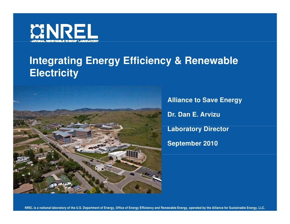 Integrating Energy Efficiency & Renewable Electricity