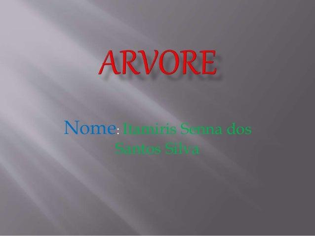 Nome: Itamiris Senna dos Santos Silva