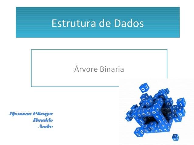 Estrutura de DadosEstrutura de Dados Árvore Binaria DjonatanPKruger Ronaldo Andre