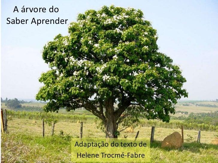 A árvore doSaber Aprender                 Adaptação do texto de                 Helene Trocmé-Fabre