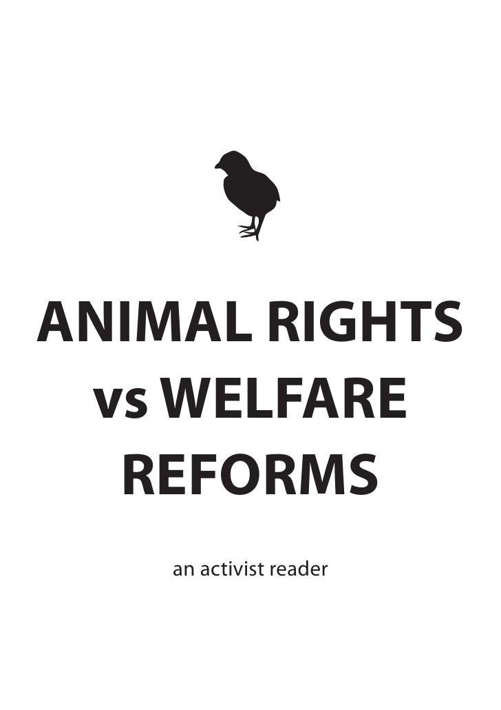 ANIMAL RIGHTS  vs WELFARE   REFORMS     an activist reader