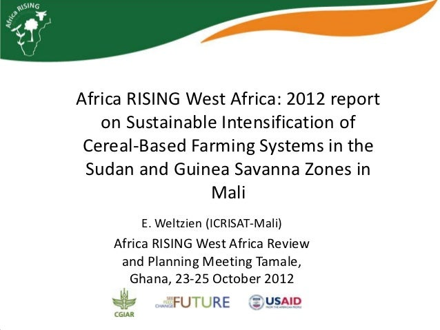 Africa RISING West Africa: 2012 report   on Sustainable Intensification of Cereal-Based Farming Systems in the Sudan and G...