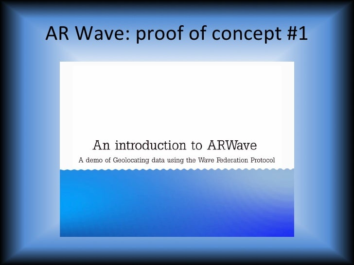 AR Wave: A Proof of Concept - Federation, Game Dynamics, Semantic Search, Mobile Social Communications Slide 3