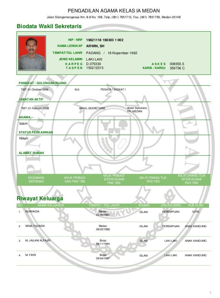 PENGADILAN AGAMA KELAS IA MEDAN                       Jalan Sisingamangaraja Km. 8.8 No. 198, Telp. (061) 7851712, Fax. (0...