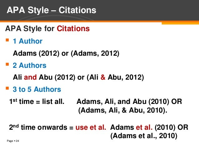 Introduction To Citations And Referencing