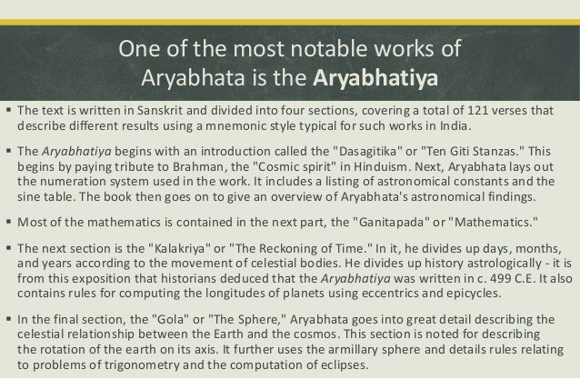 what did aryabhatta discover