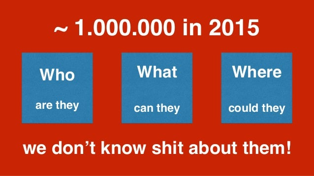 ~ 1.000.000 in 2015 Who are they What can they Where could they we don't know shit about them!