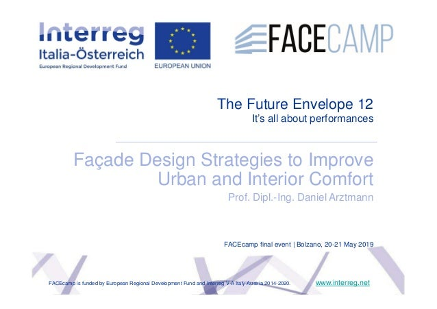 The Future Envelope 12 It's all about performances Façade Design Strategies to Improve Urban and Interior Comfort Prof. Di...