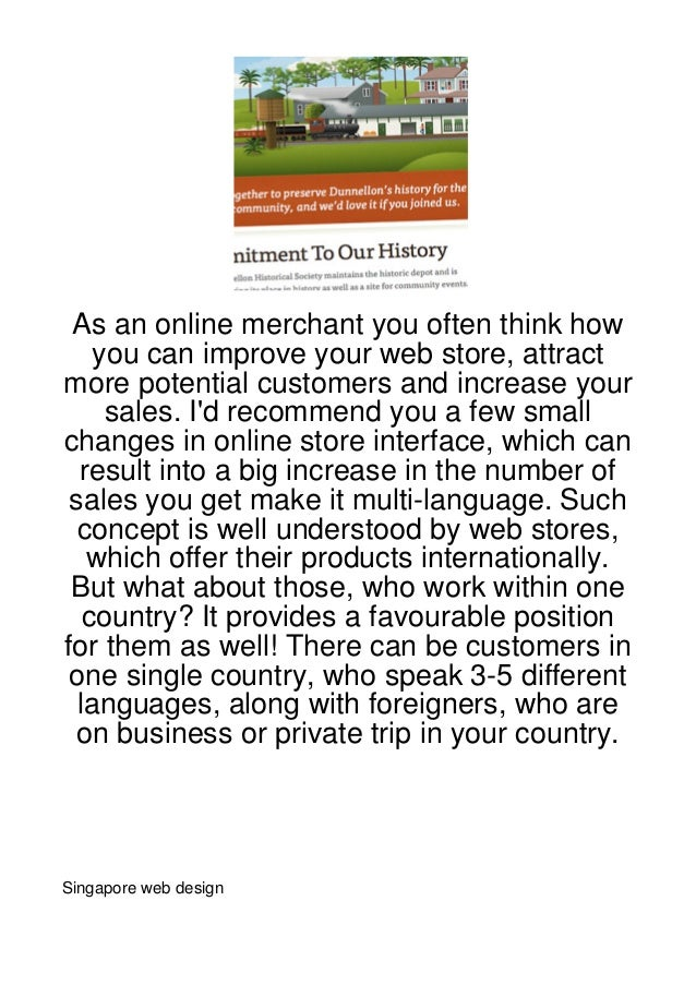 As an online merchant you often think how    you can improve your web store, attractmore potential customers and increase ...