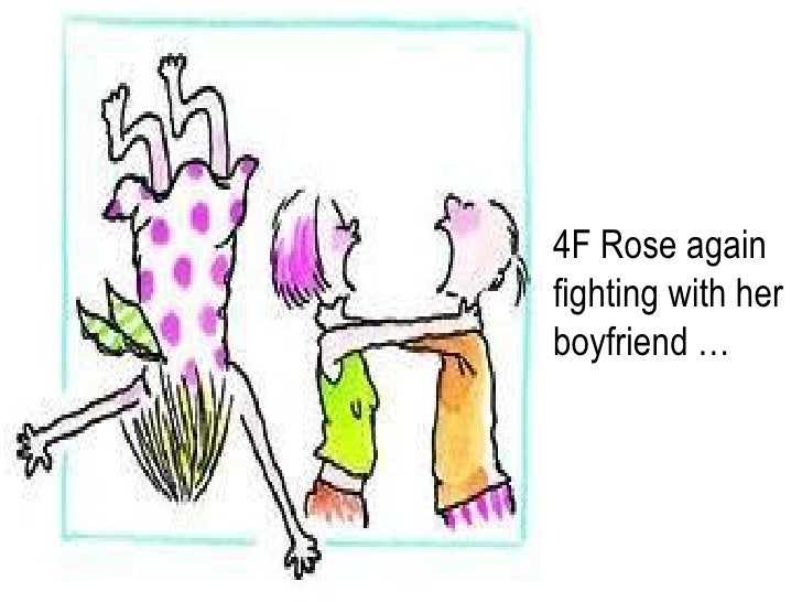 4F Rose again fighting with her boyfriend …