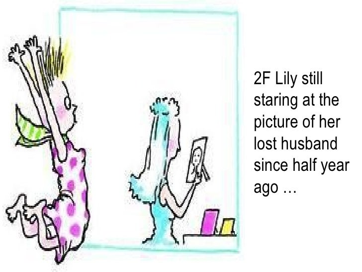 2F Lily still staring at the picture of her lost husband since half year ago …