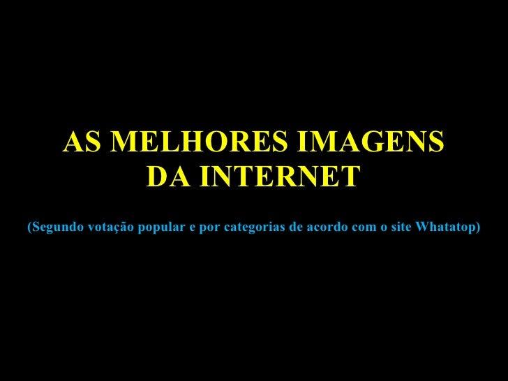 AS MELHORES IMAGENS DA INTERNET (Segundo votação popular e por categorias de acordo com o site Whatatop)