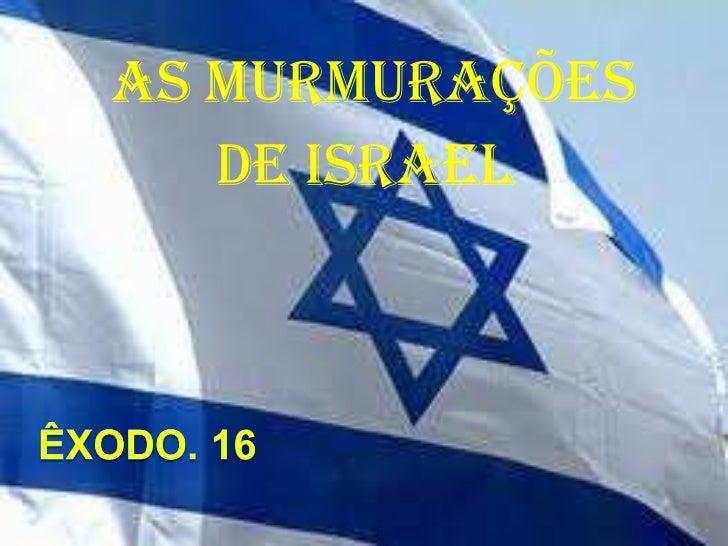 As Murmurações  de Israel