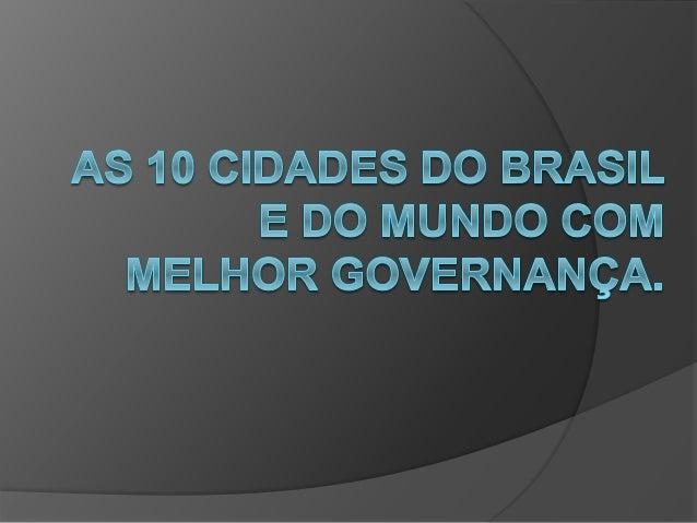 Definições  Governança deriva do termo governo, e pode ter várias interpretações, dependendo do enfoque. Segundo o Banco ...