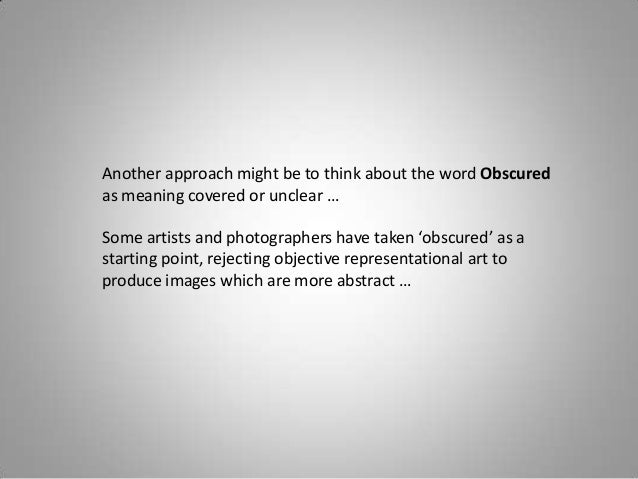 Obscured Definition