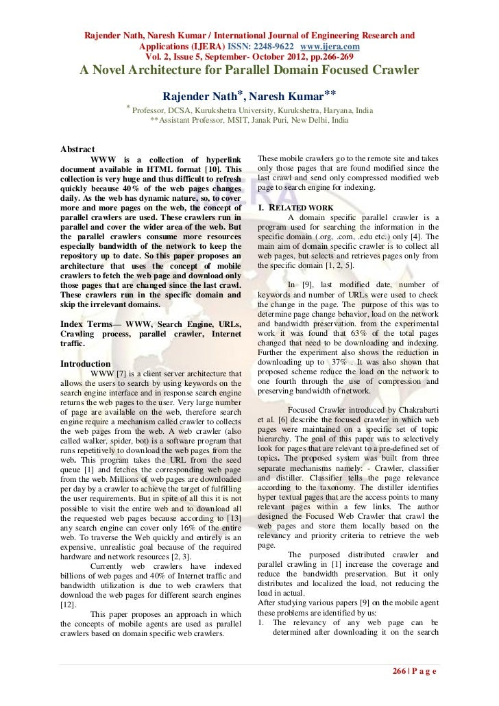 Rajender Nath, Naresh Kumar / International Journal of Engineering Research and                   Applications (IJERA) ISS...