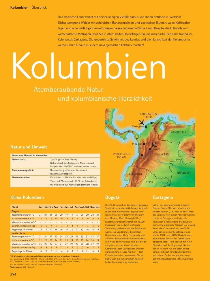 Kolumbien · Überblick                                                           Das tropische Land wartet mit seiner üppig...