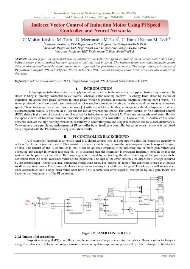 International Journal of Modern Engineering Research (IJMER) www.ijmer.com Vol.3, Issue.4, Jul - Aug. 2013 pp-1980-1987 IS...