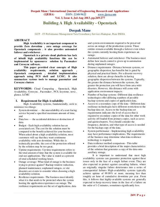 Deepak Mane / International Journal of Engineering Research and Applications (IJERA) ISSN: 2248-9622 www.ijera.com Vol. 3,...