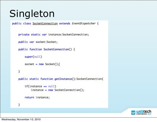 Actionscript 3 Design Pattern Slide 12