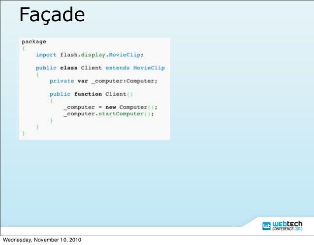 Actionscript 3 Design Pattern Slide 16