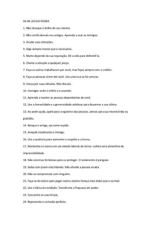 As 48 Leis do Poder [TUDO sobre PODER] Resumo do Livro