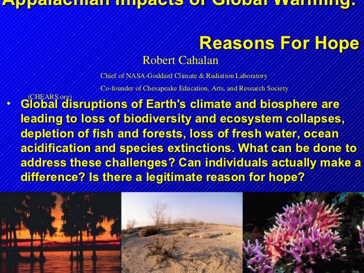Appalachian Impacts of Global Warming:                                                  Reasons For Hope                  ...