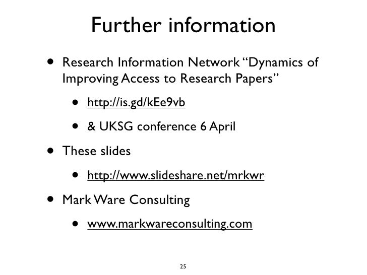This year's model: strategies for increasing access to research content (ASA Conference 2011)