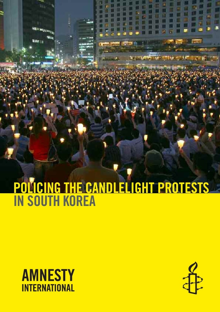 POLICING THE CANDLELIGHT PROTESTS IN SOUTH KOREA