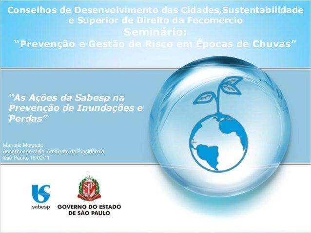 """Conselhos de Desenvolvimento das Cidades,Sustentabilidade e Superior de Direito da Fecomercio Seminário: """"Prevenção e Gest..."""