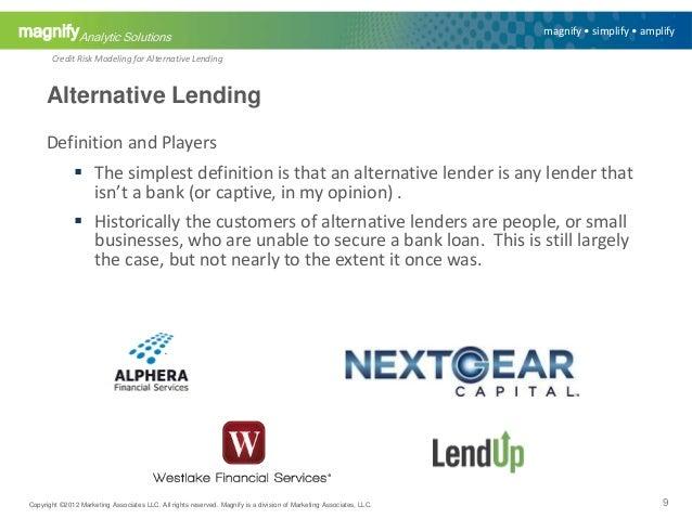credit risk modeling for alternative lending 9 638