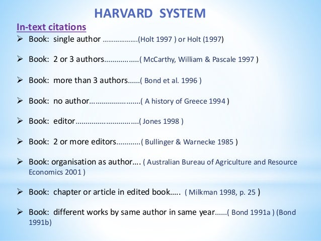 Reference system 20 harvard system in text citations book single author ccuart Image collections