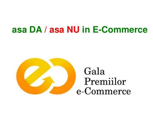 asa DA / asa NU in E-Commerce